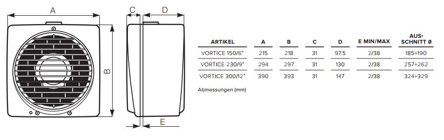 Abmessungen-Vortice-Vario